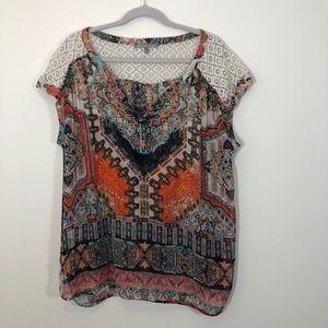 Daniel Rainn patterned blouse
